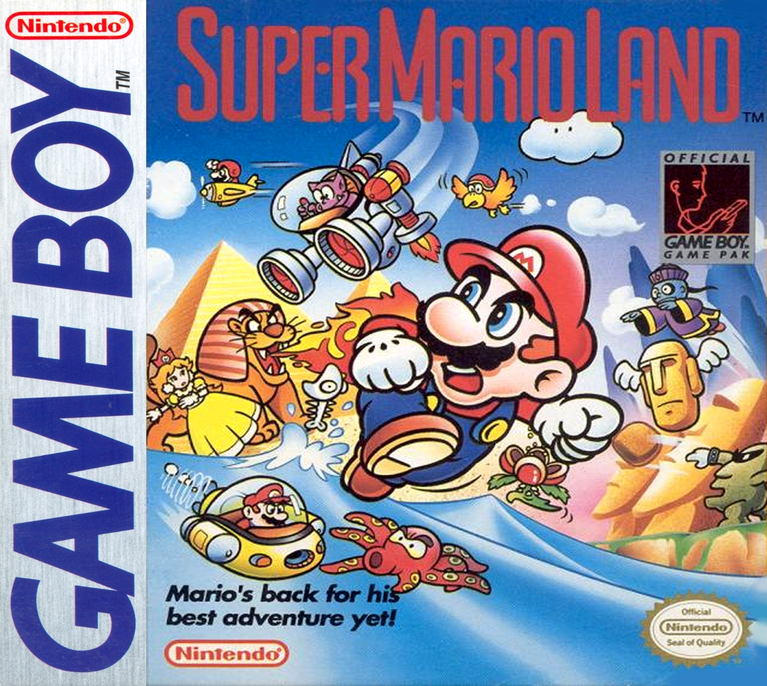 Image result for super mario land game boy box art