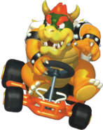 Artwork Bowser Mario Kart 64
