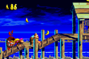 DKC3GBA Screenshot Wirbelnde Wellen 2