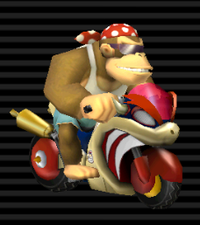 Funky Kong Bécane Bowser