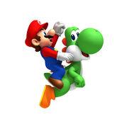 NSMBW Artwork Mario & Yoshi