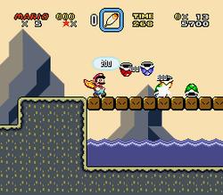SMW Screenshot Schoko-Insel 5
