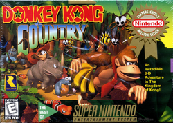 Donkey Kong Country - North American Boxart