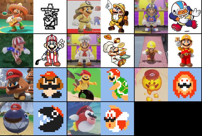 Costumes de Mario SMO
