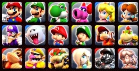 Il y a dix-huit personnages jouables principaux dans le jeu.