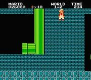 Mario ingresando el Minus World
