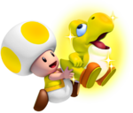 Glowing baby yoshi final by yoshigo99-d56yr8c-1-