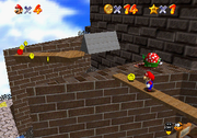 SM64 Whomp's Fortress screenshot