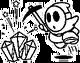 Mining Shy Guy stamp MK8