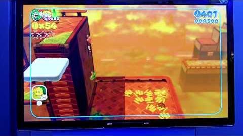Super Mario 3D World - World 6-3 Gameplay Footage (E3 2013 Wii U)