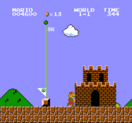 World 1-1 (Super Mario Bros.) End