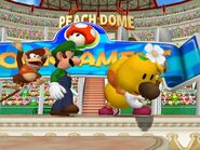 Diddy Kong, Luigi and Wiggler