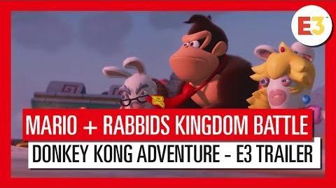 Mario + Rabbids Kingdom Battle Donkey Kong Adventure - E3 tráiler