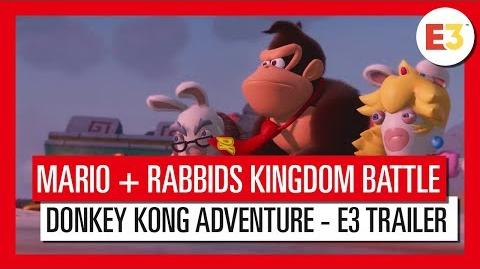 Mario + Rabbids Kingdom Battle Donkey Kong Adventure - E3 tráiler