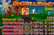 Mushroom Cup Award - Mario Kart Super Circuit