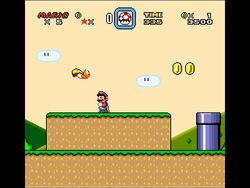 SMW Screenshot Donut-Ebene 1