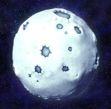 DKCR Screenshot Pilz-Welt Mond aus dem All