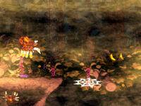 DKC2 Screenshot Wald des Grauens