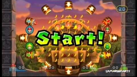 Mario Party 9 Minigame Diddy Kongs Bananenhatz (Diddy's Banana Blast)