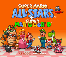 Super Mario All-Stars World Title Screen