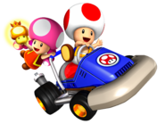Toad and Toadette - Mario Kart Double Dash