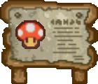 Mushroom Sign (Paper Mario)