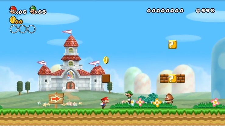 super mario world for the wii