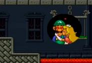 Princess Peach kiss Luigi