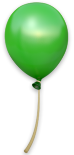 DKCTF Artwork Grüner Ballon
