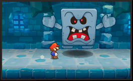 Paper mario 3ds vs Whomp