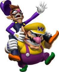 Wario and Waluigi Artwork - Mario Party 7