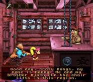 DKC3 Screenshot Bennys Lift