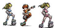 SMS Daisy, Peach y Rosalina
