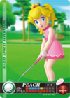 Carte amiibo Peach golf