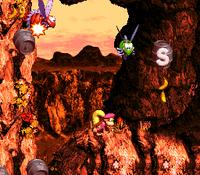 DKC3 Screenshot Klippen-Klamotte