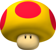 Mega Mushroom Artwork - New Super Mario Bros