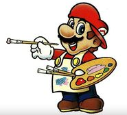 Artwork mario paint mario peintre
