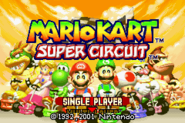 Title Screen - Alternate - Mario Kart Super Circuit