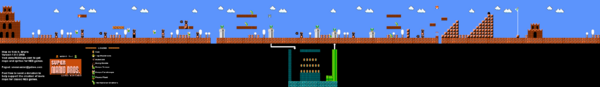 SMB World 7-1 NES level map