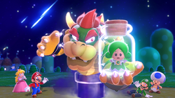 SM3DW Screenshot - Mushroom Kingdom and Bowser