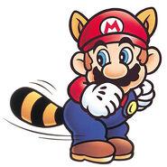SMB3 Artwork Waschbär-Mario 2