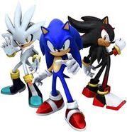 Sonic, shadow y silver