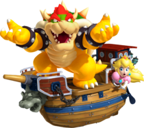 Art Bowser et Peach 3D Land