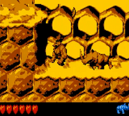DKC2 Screenshot Rambis Donnergetöse