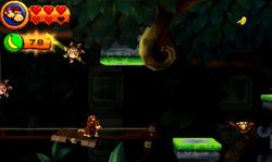 DKCR3D Screenshot Säulengetöse