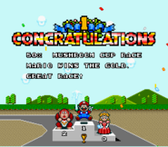 Mushroom Cup Award - Super Mario Kart