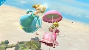 SSB4 Wii U - Princess Peach and Rosalina