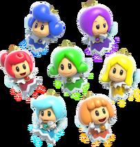 Феи-принцессы - Super Mario 3D World