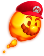 Lava Bubble Mario