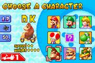 Mario Kart Super Circuit - Character Selection
